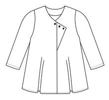 Load image into Gallery viewer, Jacket with buttons along a diagonal placket at the center front seam