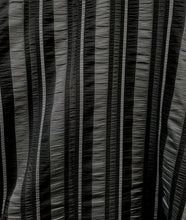 Load image into Gallery viewer, black and grey striped swatch
