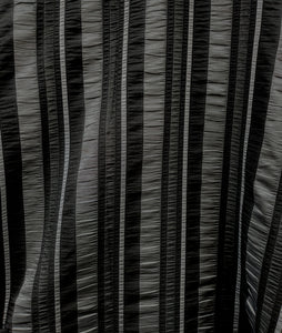 black and grey striped swatch