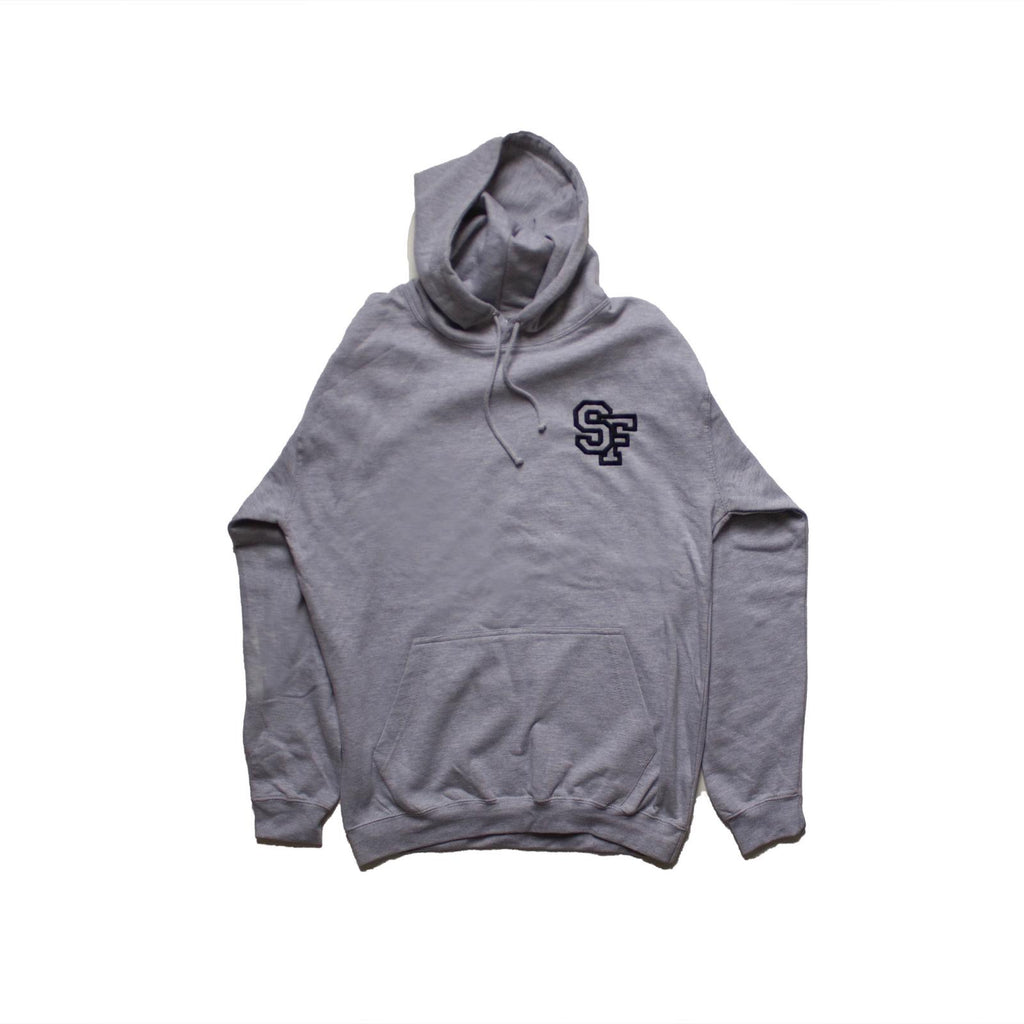 STAY FREE - SF Logo Embroidered Grey Hoodie