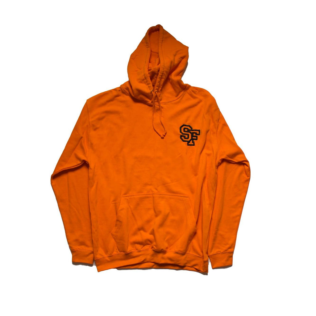 STAY FREE - SF Logo Embroidered Orange Hoodie