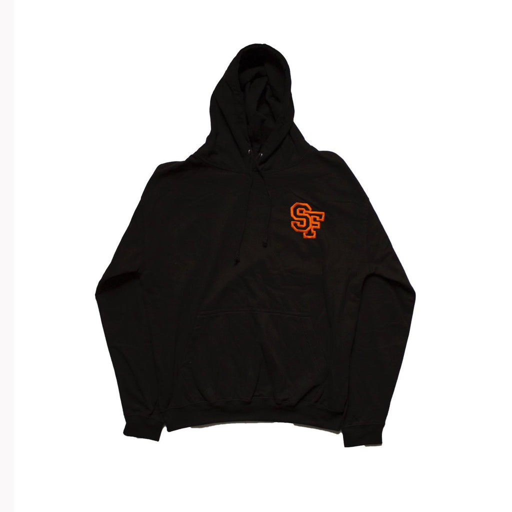 STAY FREE - SF Logo Embroidered Black Hoodie