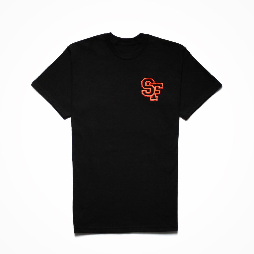 STAY FREE - SF Logo Embroidered Black Tee