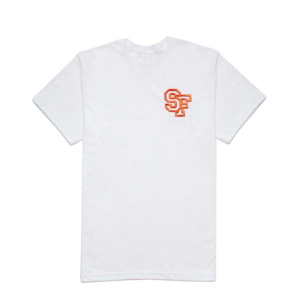 STAY FREE - SF Logo Embroidered White Tee
