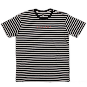 STAY FREE - Embroidered Stripe Tee