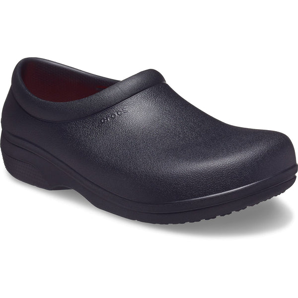 Crocs On The Clock LiteRide Slip On in Black