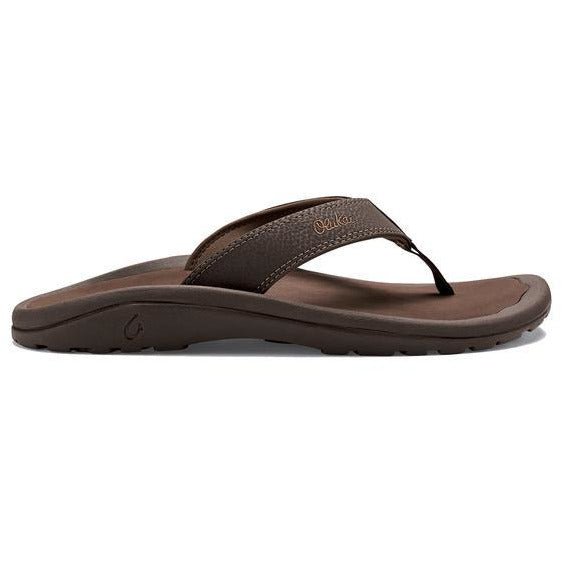Olu Kai Men's 'Ohana Sandal in Dark Java/Ray
