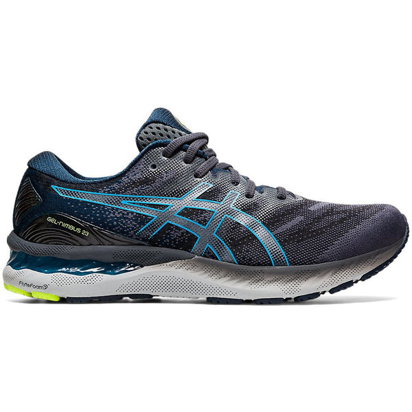 Asics Men's Gel-Nimbus 23 in Carrier Grey/Digital Aqua