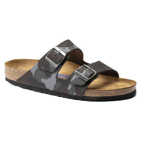 Birkenstock Arizona Birko-Flor Soft Footbed Sandal in Desert Soil Camouflage Brown