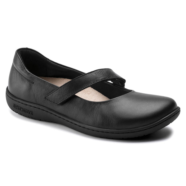 BIRKENSTOCK WOMEN'S LORA LEATHER IN BLACK