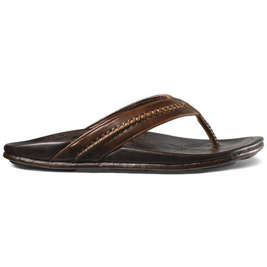 OLU KAI MEN'S MEA OLA SANDAL IN DARK JAVA/DARK JAVA