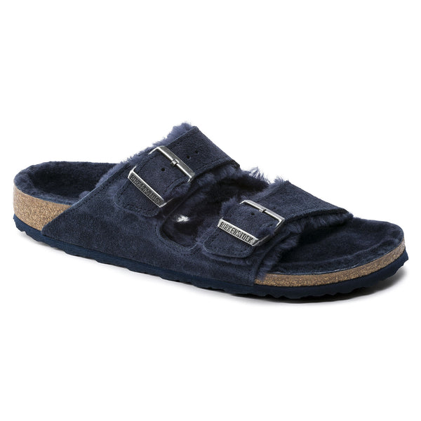 Birkenstock Arizona Shearling Suede Sandal in Night