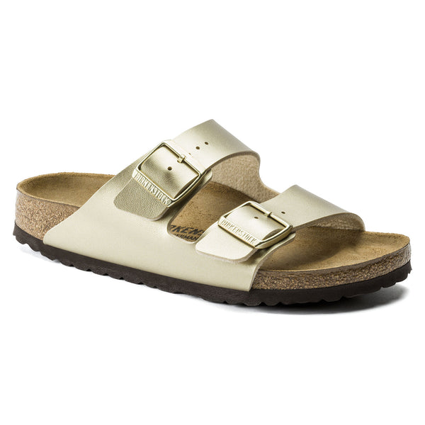 Birkenstock Arizona Birko-Flor Classic Footbed Sandal in Gold