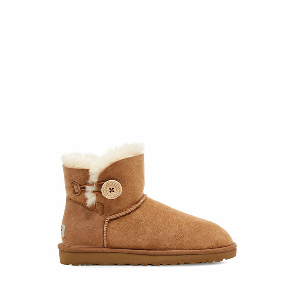 UGG WOMEN'S MINI BAILEY BUTTON II BOOT IN CHESTNUT