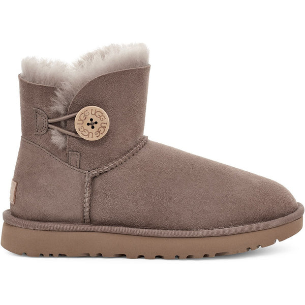 UGG WOMEN'S MINI BAILEY BUTTON II BOOT IN CARIBOU