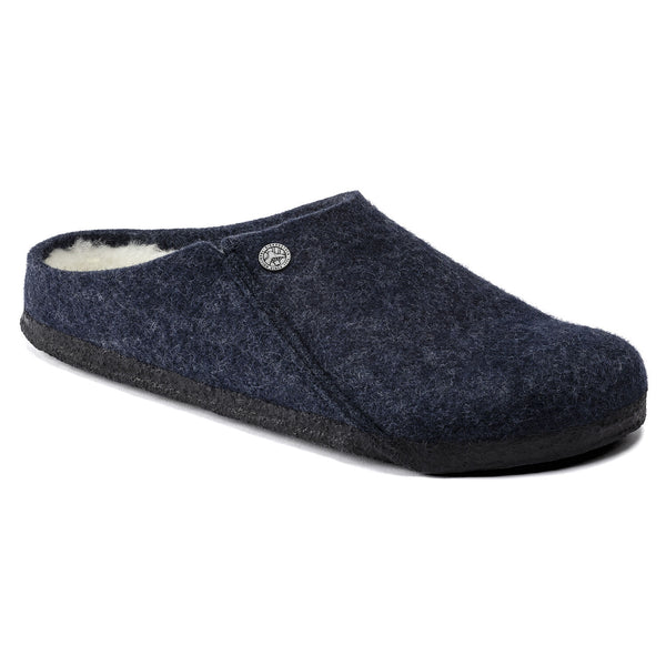 BIRKENSTOCK WOMEN'S ZERMATT WOOL FELT SLIPPER IN DARK BLUE