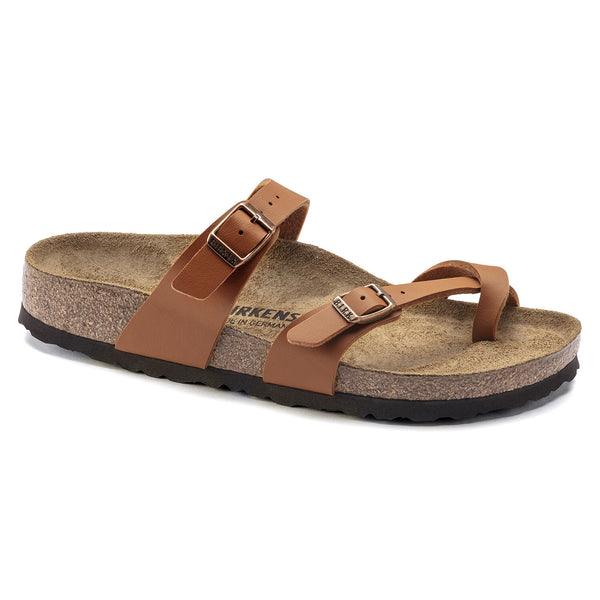 Birkenstock Mayari Birko-Flor Classic Footbed Sandal in Ginger Brown