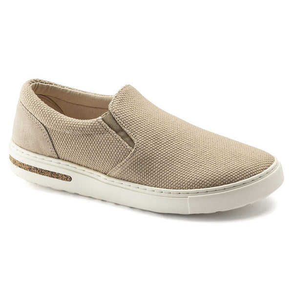 Birkenstock Oswego Canvas/Suede Low Sneaker in Sandcastle
