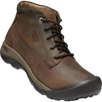 KEEN MEN'S AUSTIN CASUAL WATERPROOF BOOT IN CHOCOLATE BROWN BLACK OLIVE