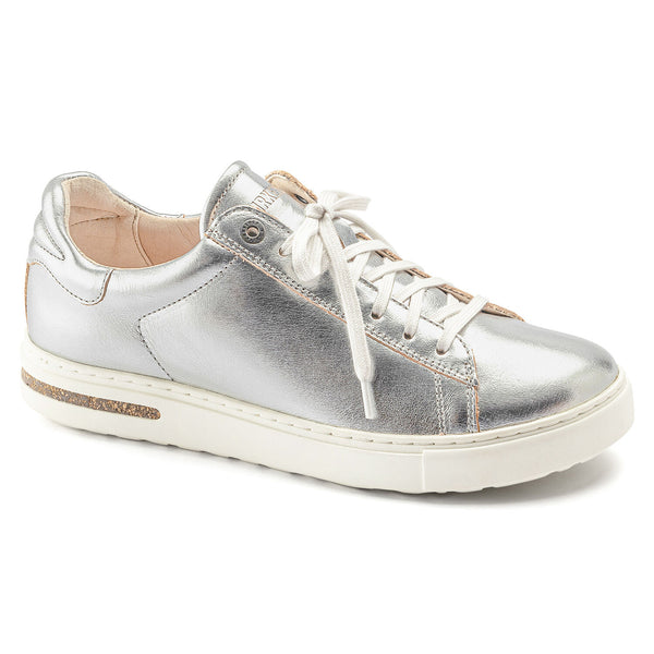Birkenstock Bend Leather Low Sneaker in Silver