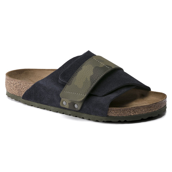 Birkenstock Kyoto Suede Leather/Birko-Flor Sandal in  Midnight Camo