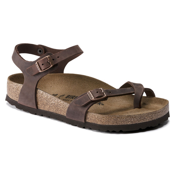 Birkenstock Taormina Oiled Leather Classic Footbed Sandal in Habana