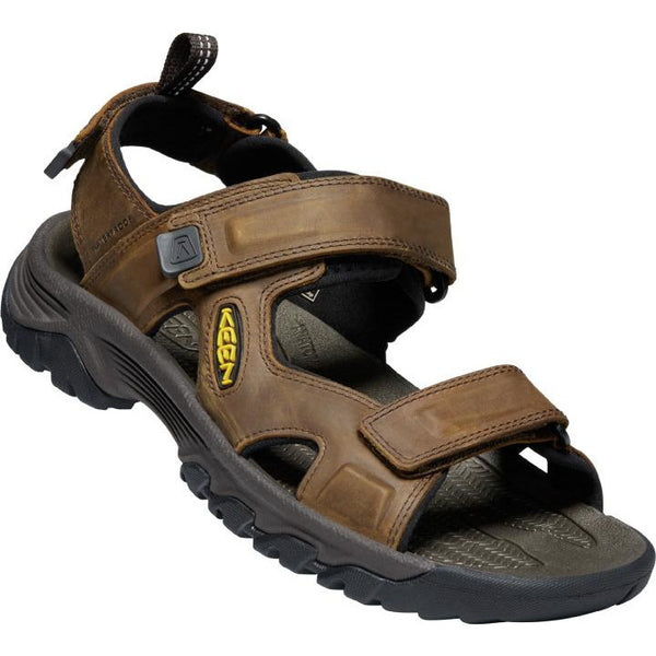 KEEN MEN'S TARGHEE 3 OPEN TOE SANDAL IN BISON MULCH