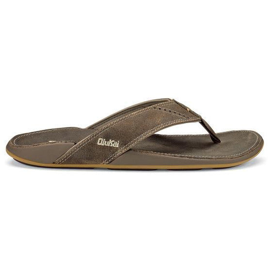Olu Kai Men's Nui Sandal in Clay/Clay