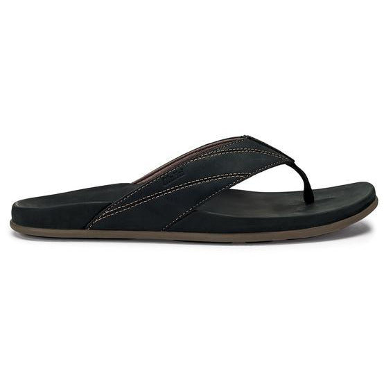 OLU KAI MEN'S PIKOI SANDAL IN BLACK/BLACK