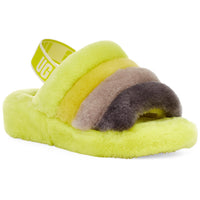 UGG WOMEN'S FLUFF YEAH SLIDE IN SULFUR MULTI