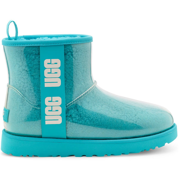UGG WOMEN'S CLASSIC CLEAR MINI IN CLEAR WATER