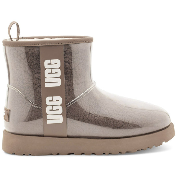 UGG WOMEN'S CLASSIC CLEAR MINI IN NATURAL/CHESTNUT