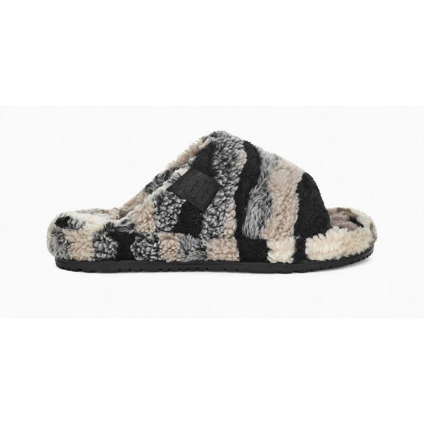 UGG All Gender Fluff You Cali Collage Slide In Grey