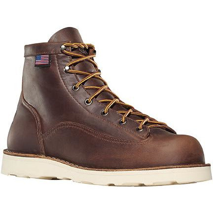 "DANNER MEN'S BULL RUN 6"" BOOT IN BROWN CHRISTY"