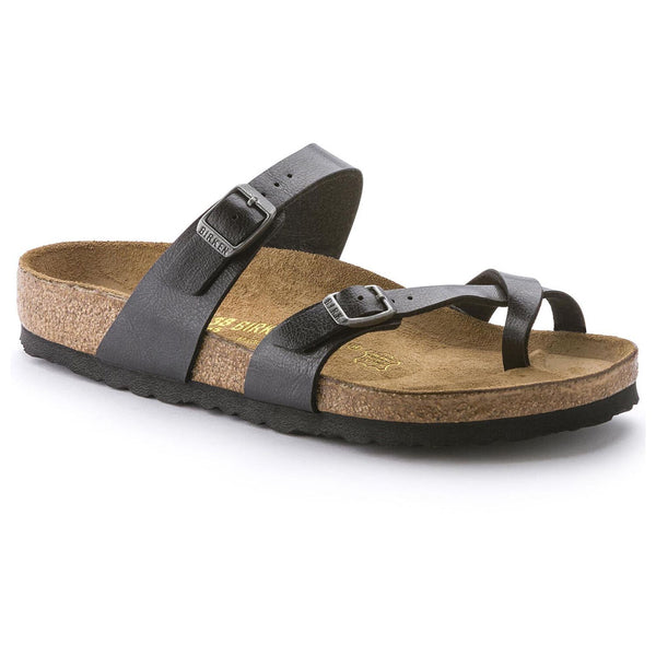 Birkenstock Mayari Birko-Flor Classic Footbed Sandal in Graceful Licorice