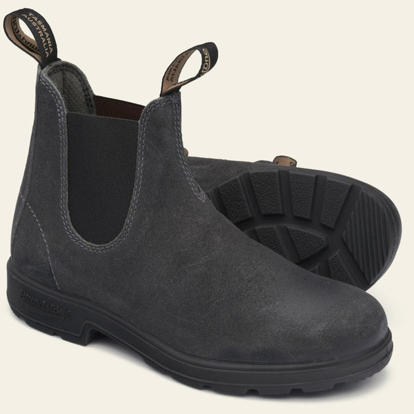 Blundstone Original #1910 Suede Leather Boot in Steel Grey