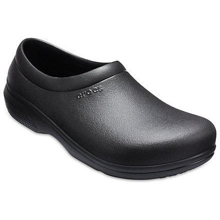 Crocs On The Clock Work Slip On in Black