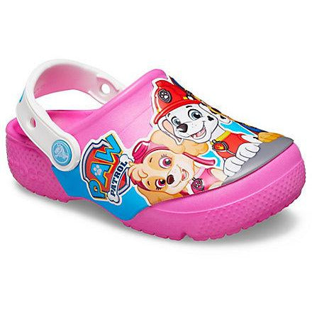 Crocs Kid's Fun Lab Paw Patrol Clog In Electric Pink