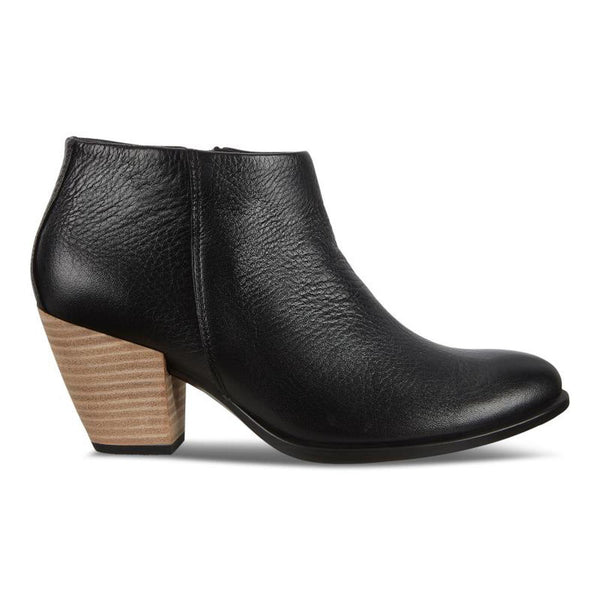 Ecco Women's Shape 55 Western Boot in Black Lyra Hm