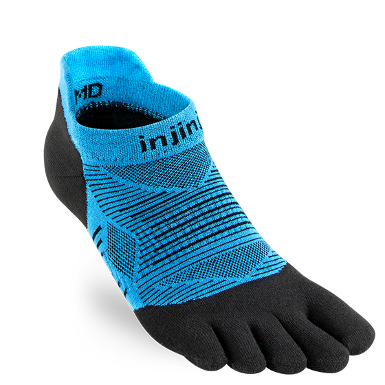 INJINJI MEN'S RUN LIGHTWEIGHT NO-SHOW SOCK IN MALIBU