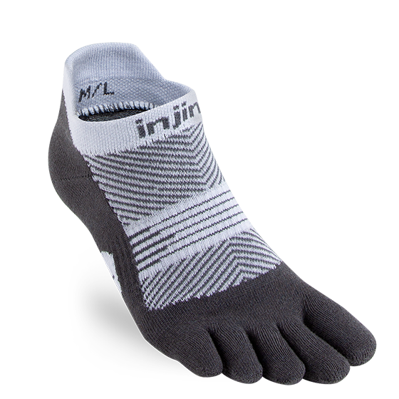 INJINJI WOMEN'S RUN LIGHTWEIGHT NO-SHOW SOCK IN GRAY