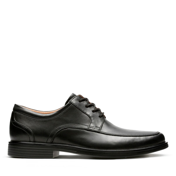 CLARKS MEN'S UN ALDRIC PARK IN BLACK LEATHER