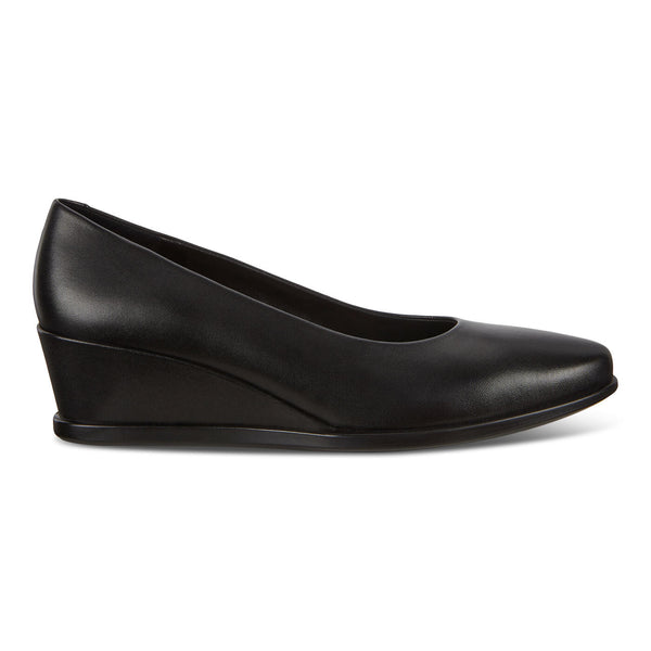 Ecco Women's Shape 45 Wedge Loafer in Black Dress