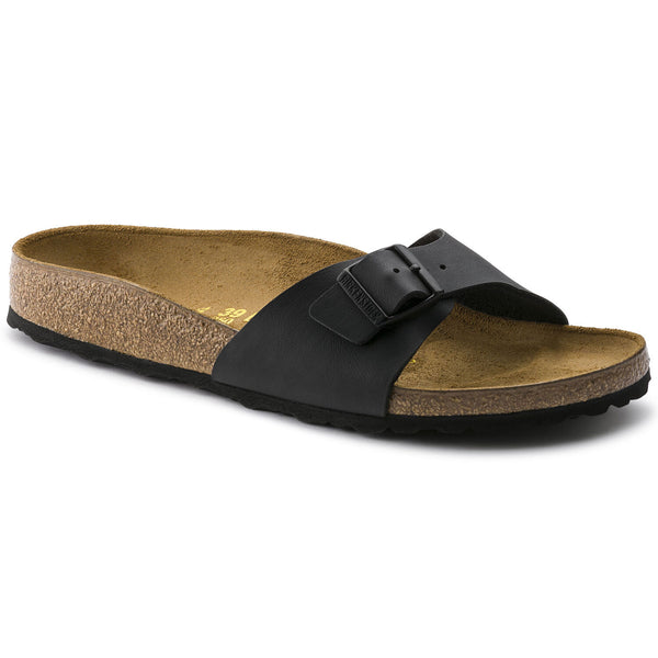 BIRKENSTOCK WOMEN'S MADRID BIRKO-FLOR CLASSIC FOOTBED IN BLACK