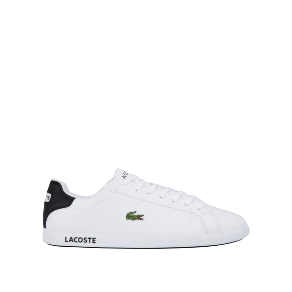 LACOSTE MEN'S GRADUATE 0120 2 SNEAKER IN WHITE/BLACK