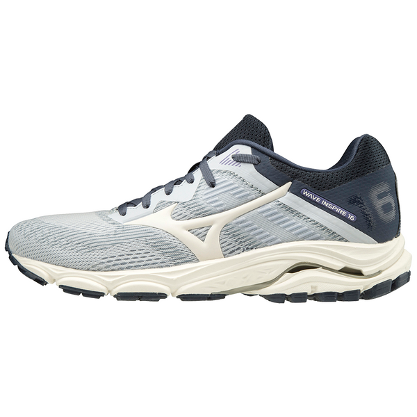 MIZUNO WOMEN'S WAVE INSPIRE 16 IN ARCTIC ICE-SNOW WHITE