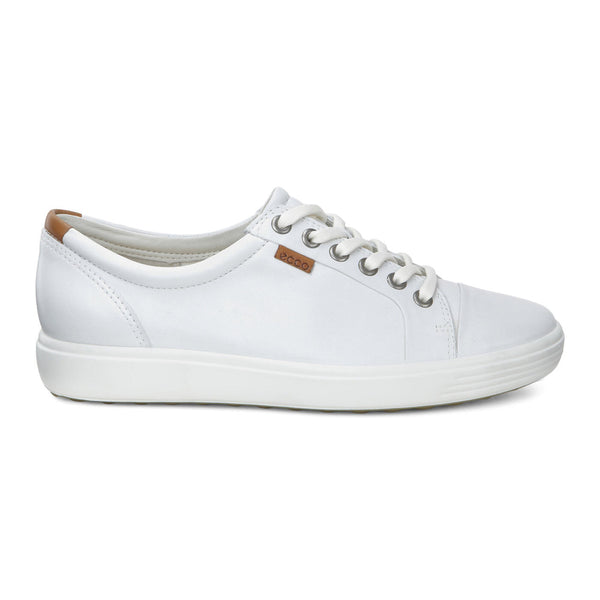 Ecco Women's Soft 7 Sneaker in White Droid