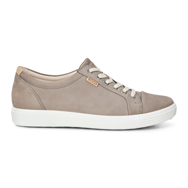 Ecco Women's Soft 7 Lace Up Sneakers In Warm Grey