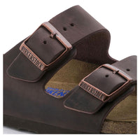 Birkenstock Arizona Oiled Leather Soft Footbed Sandal in Habana