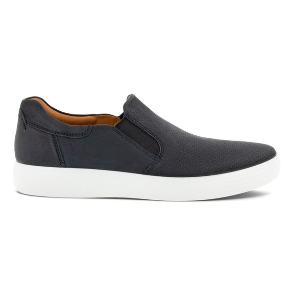 Ecco Men's Soft 7 Slip-On Sneaker in Black